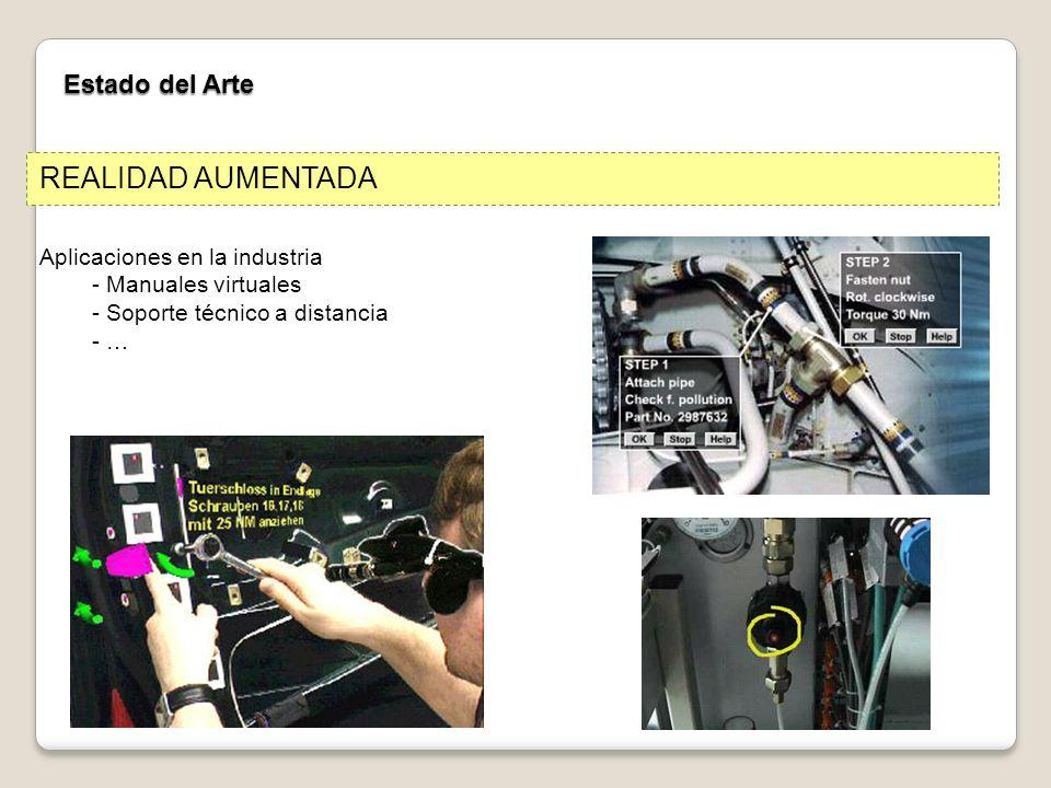 REALIDAD AUMENTADA Estado del Arte Aplicaciones en la industria