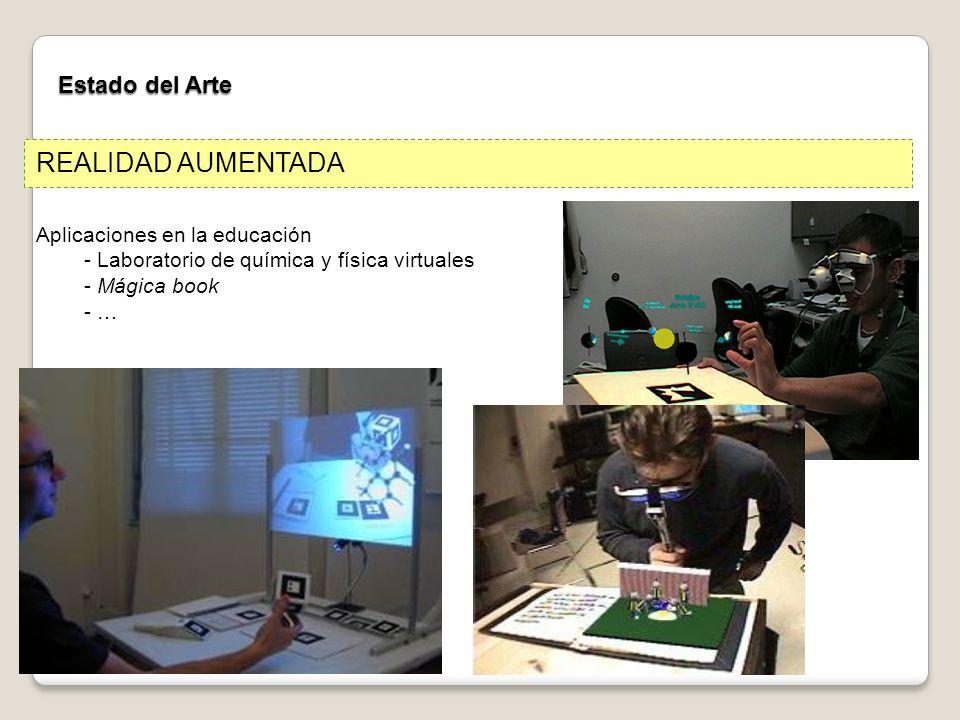 REALIDAD AUMENTADA Estado del Arte Aplicaciones en la educación