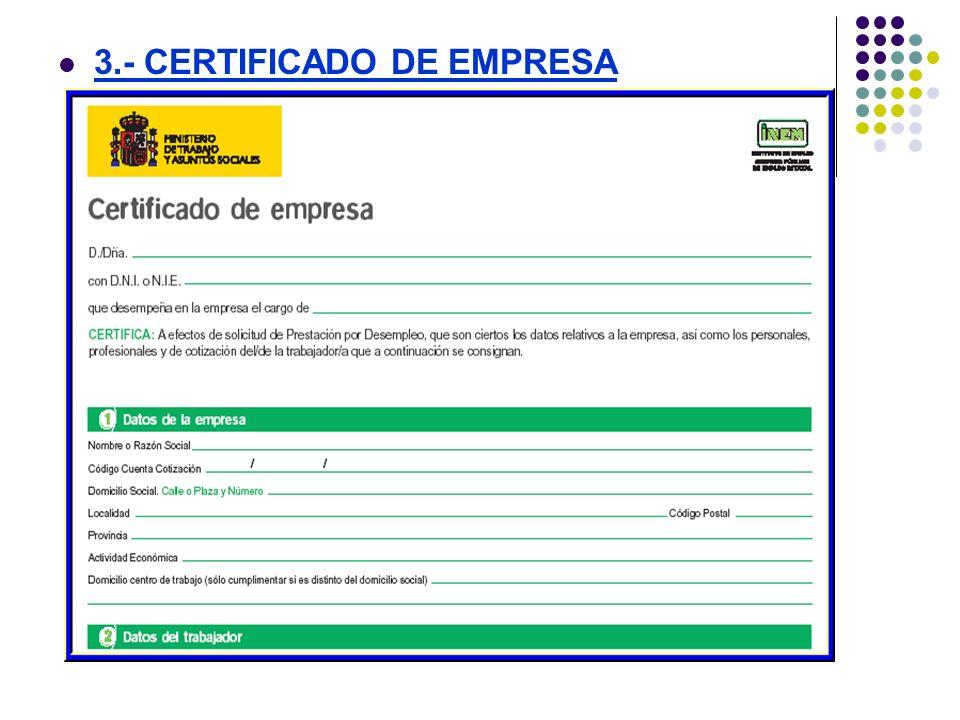 3.- CERTIFICADO DE EMPRESA