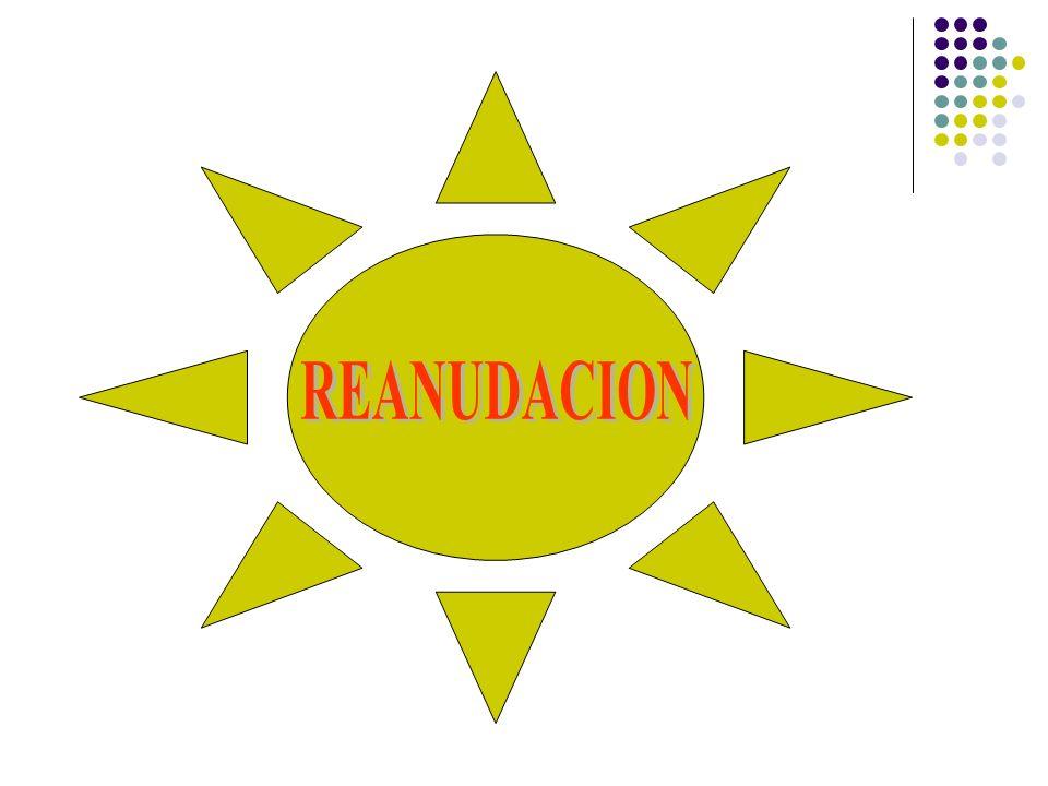 REANUDACION