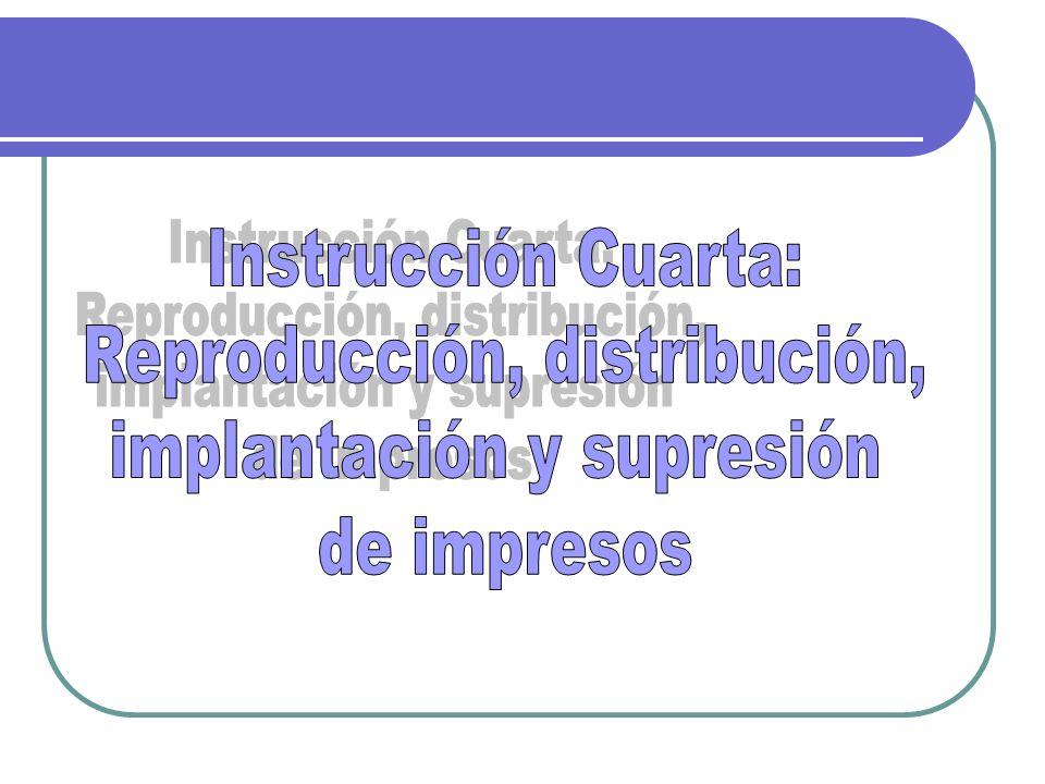 Reproducción, distribución, implantación y supresión