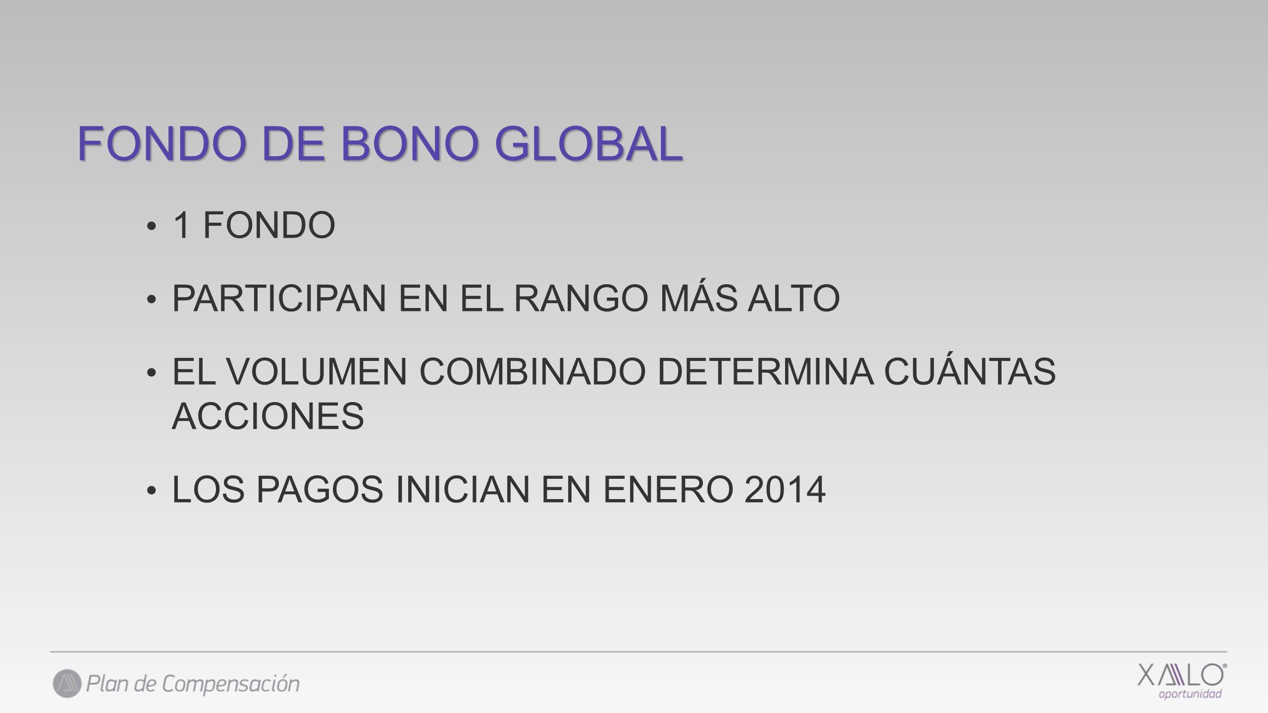 FONDO DE BONO GLOBAL 1 FONDO PARTICIPAN EN EL RANGO MÁS ALTO
