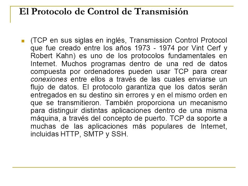 El Protocolo de Control de Transmisión
