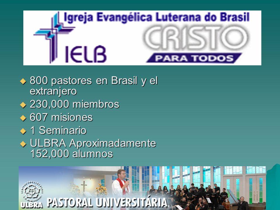 800 pastores en Brasil y el extranjero