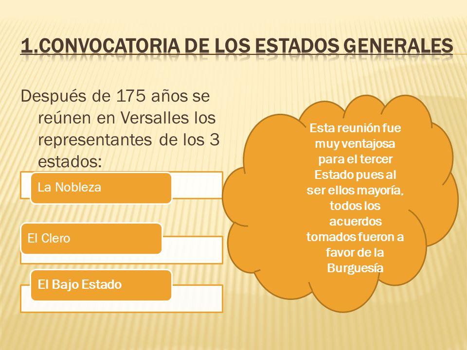 1.Convocatoria de los Estados Generales