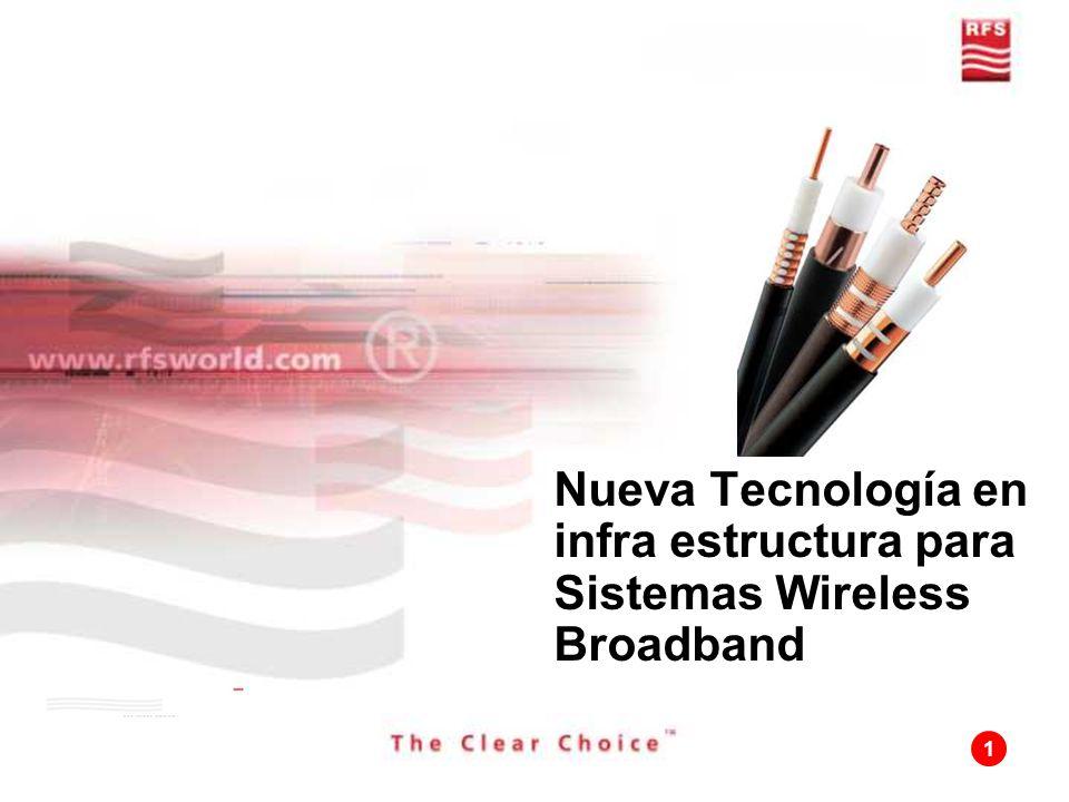 Nueva Tecnología en infra estructura para Sistemas Wireless Broadband