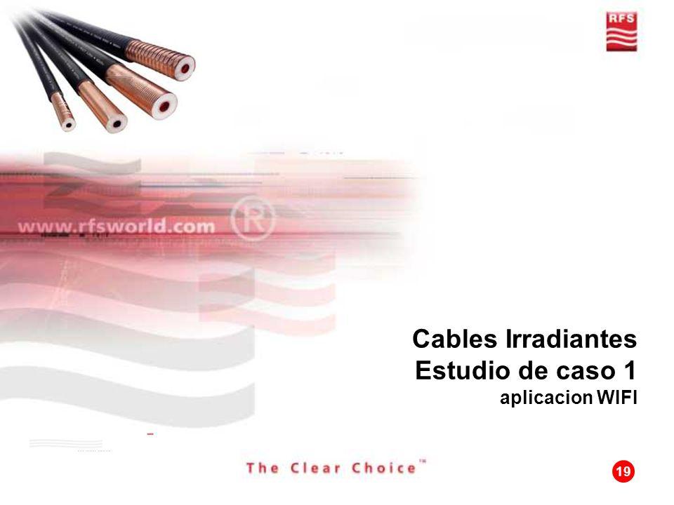Cables Irradiantes Estudio de caso 1 aplicacion WIFI