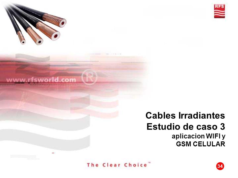 Cables Irradiantes Estudio de caso 3 aplicacion WIFI y GSM CELULAR