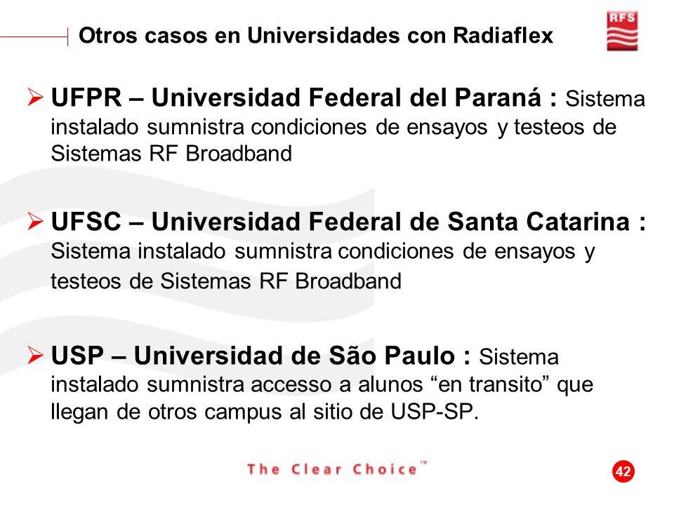 Otros casos en Universidades con Radiaflex
