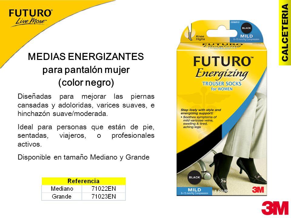 MEDIAS ENERGIZANTES para pantalón mujer (color negro)
