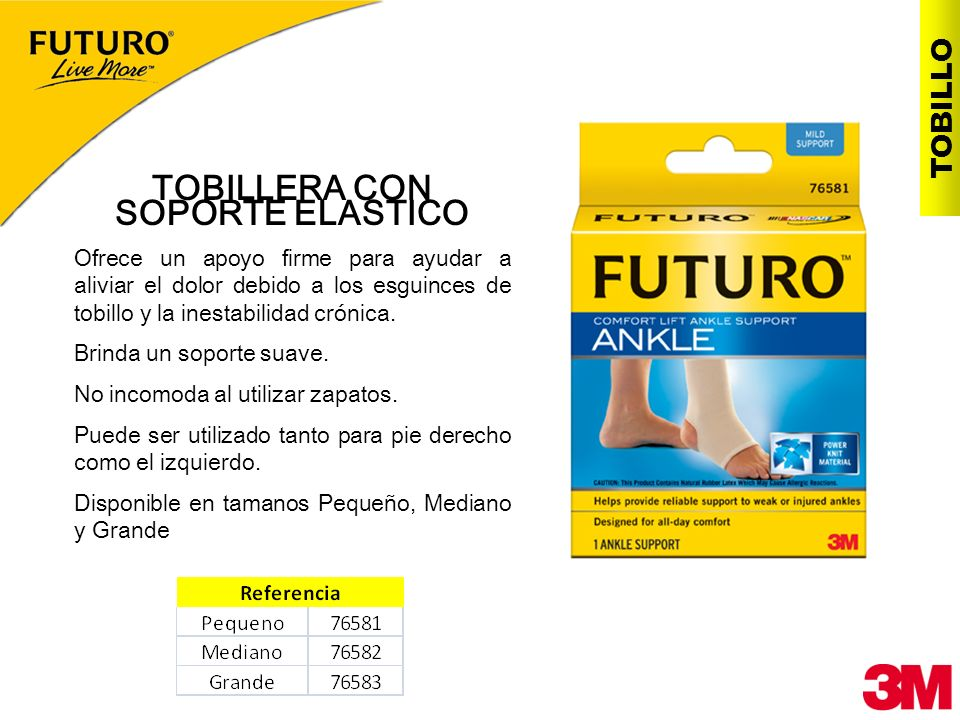 TOBILLERA CON SOPORTE ELASTICO