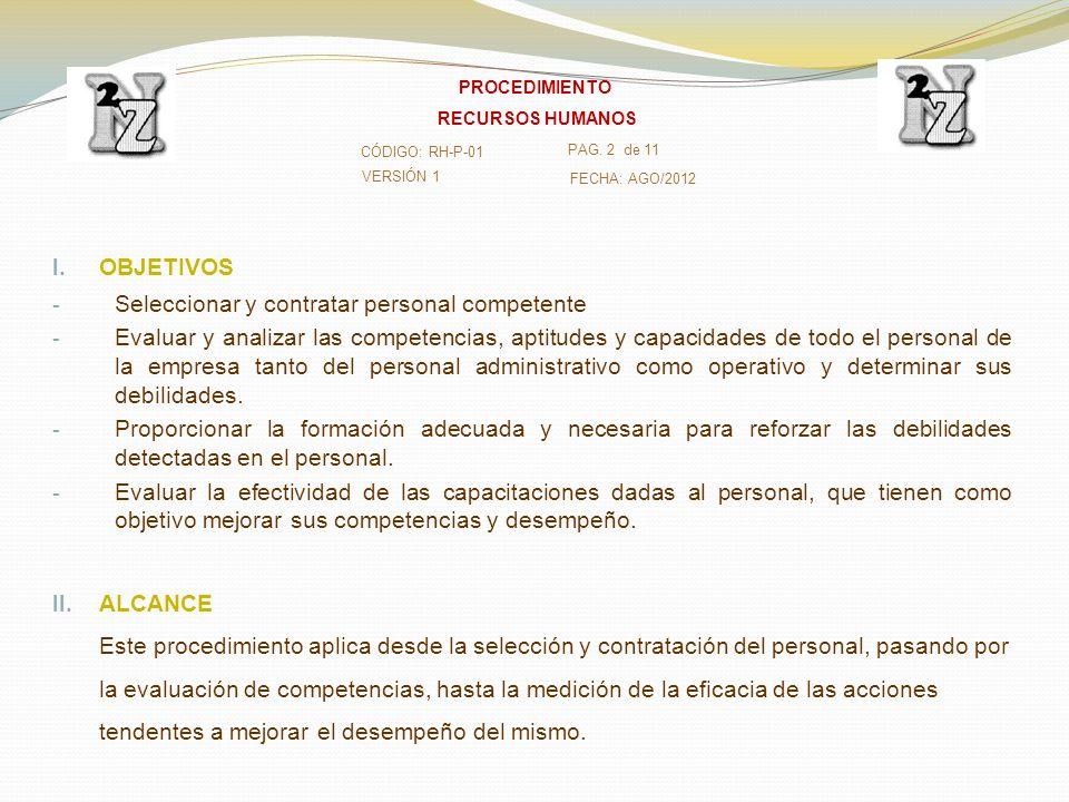 Seleccionar y contratar personal competente