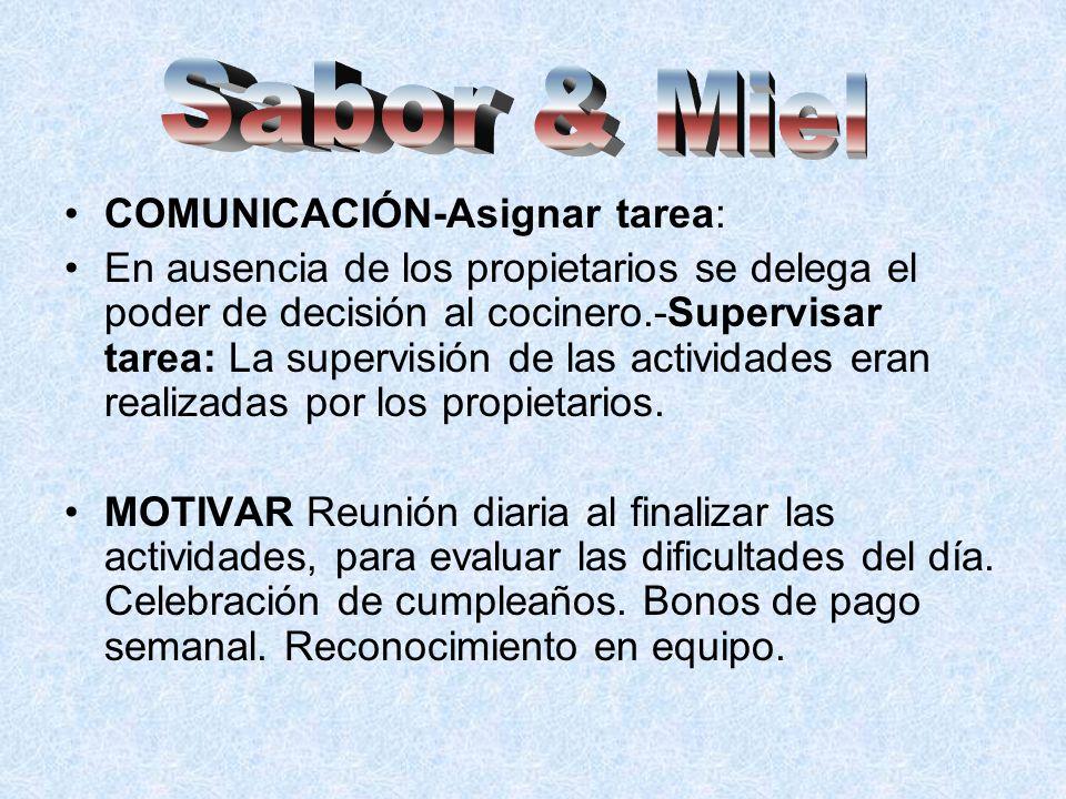 Sabor & Miel COMUNICACIÓN-Asignar tarea: