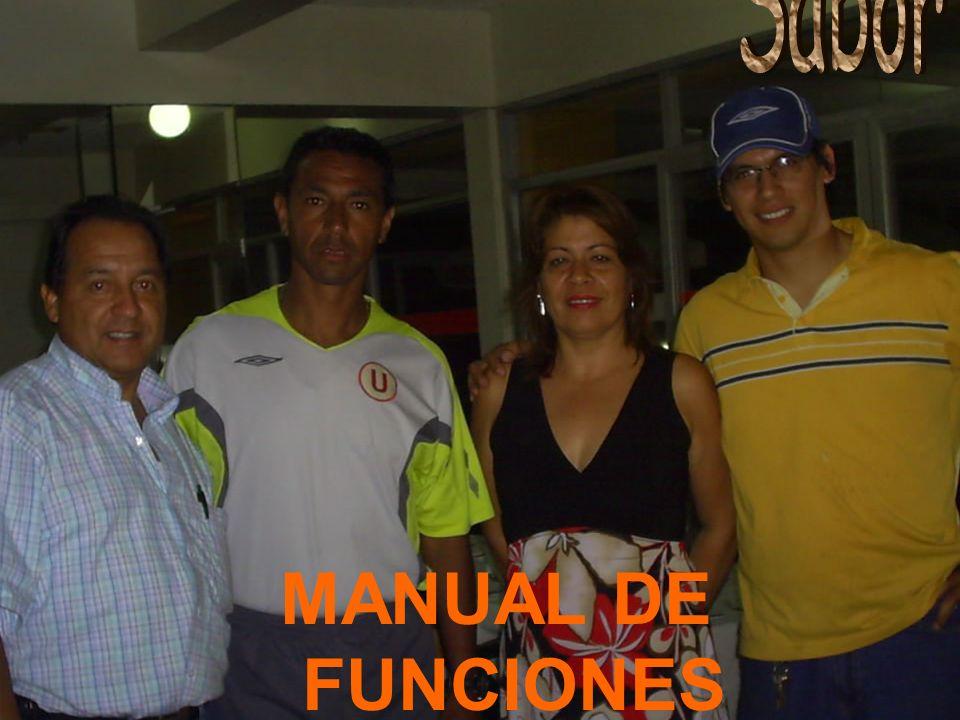 Sabor & Miel MANUAL DE FUNCIONES