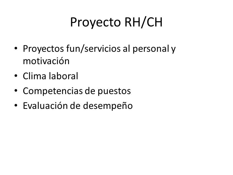 Proyecto RH/CH Proyectos fun/servicios al personal y motivación