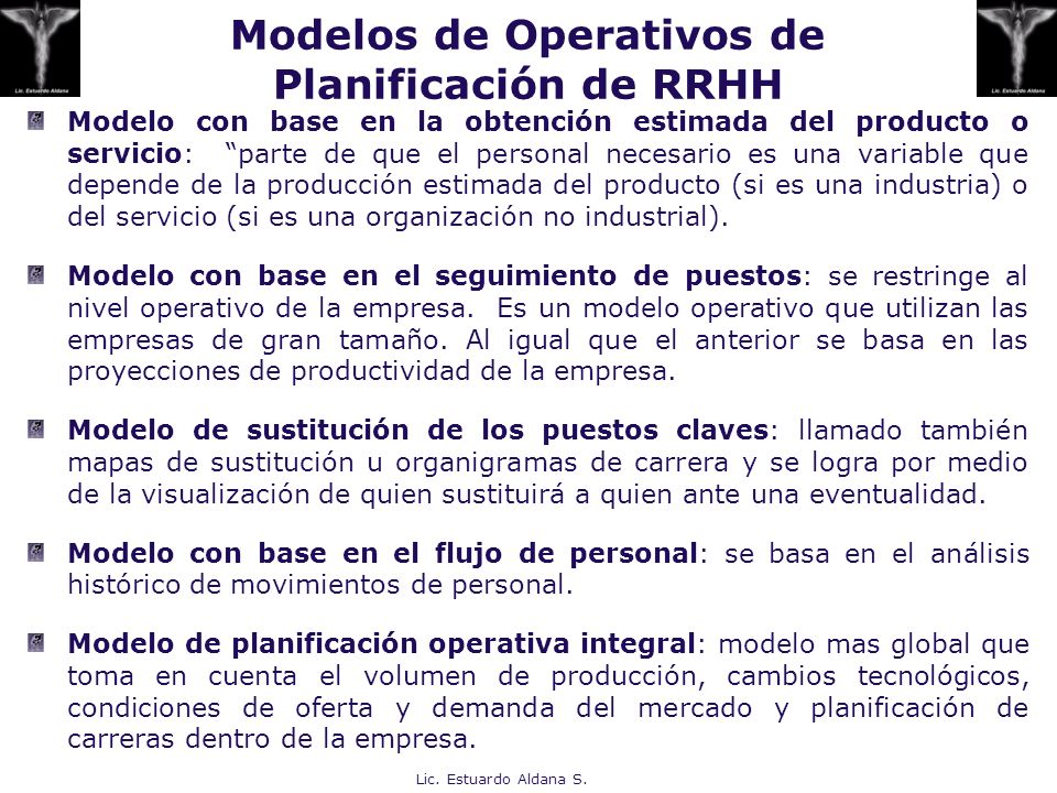 Modelos de Operativos de Planificación de RRHH