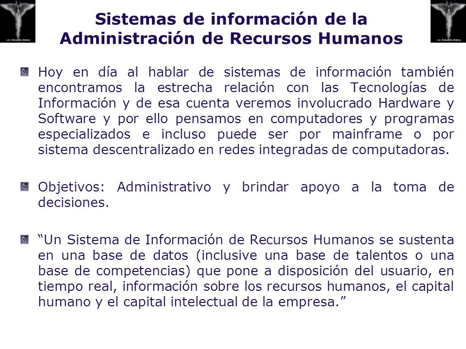 Sistemas de información de la Administración de Recursos Humanos