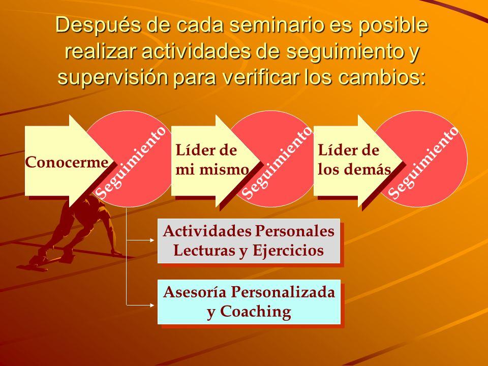 Actividades Personales Asesoría Personalizada
