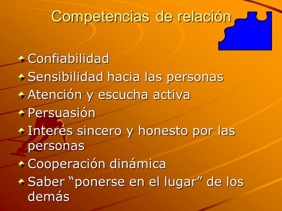 Competencias de relación