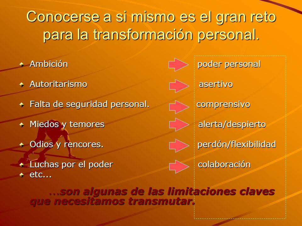 Conocerse a si mismo es el gran reto para la transformación personal.