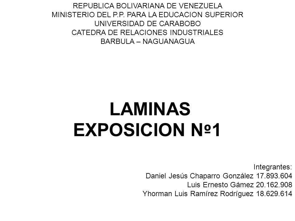 LAMINAS EXPOSICION Nº1 REPUBLICA BOLIVARIANA DE VENEZUELA