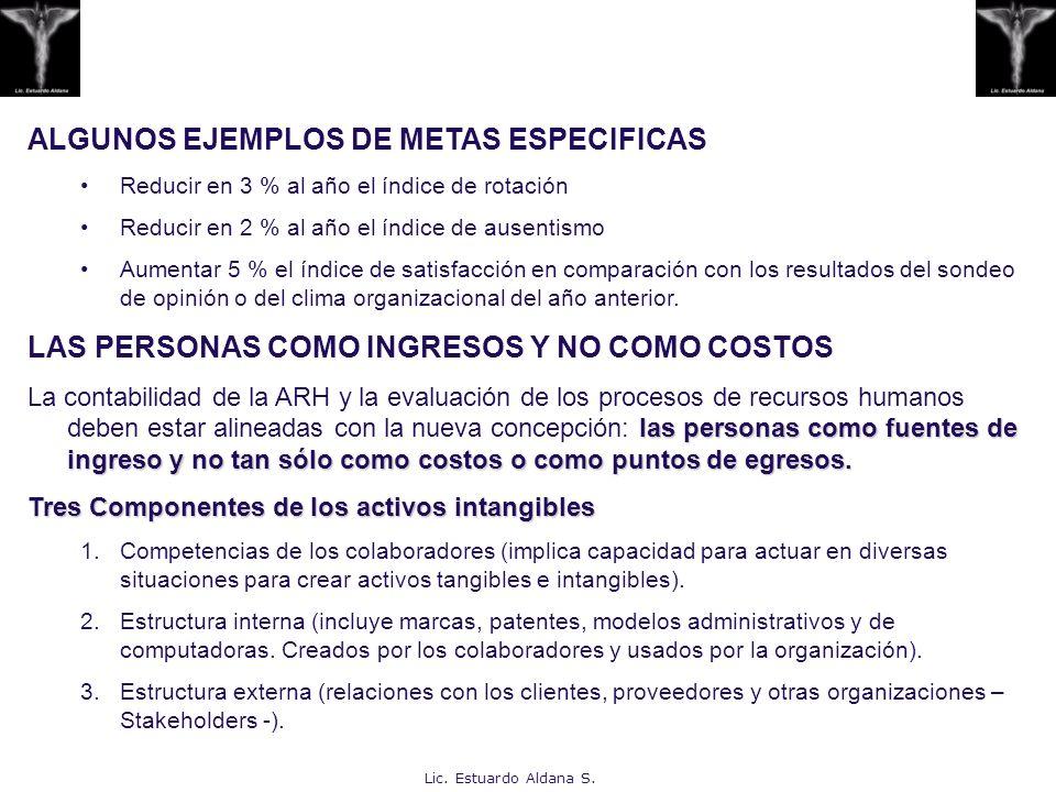 ALGUNOS EJEMPLOS DE METAS ESPECIFICAS