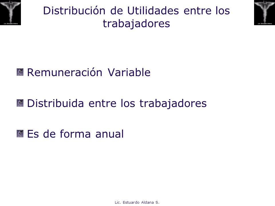 Distribución de Utilidades entre los trabajadores