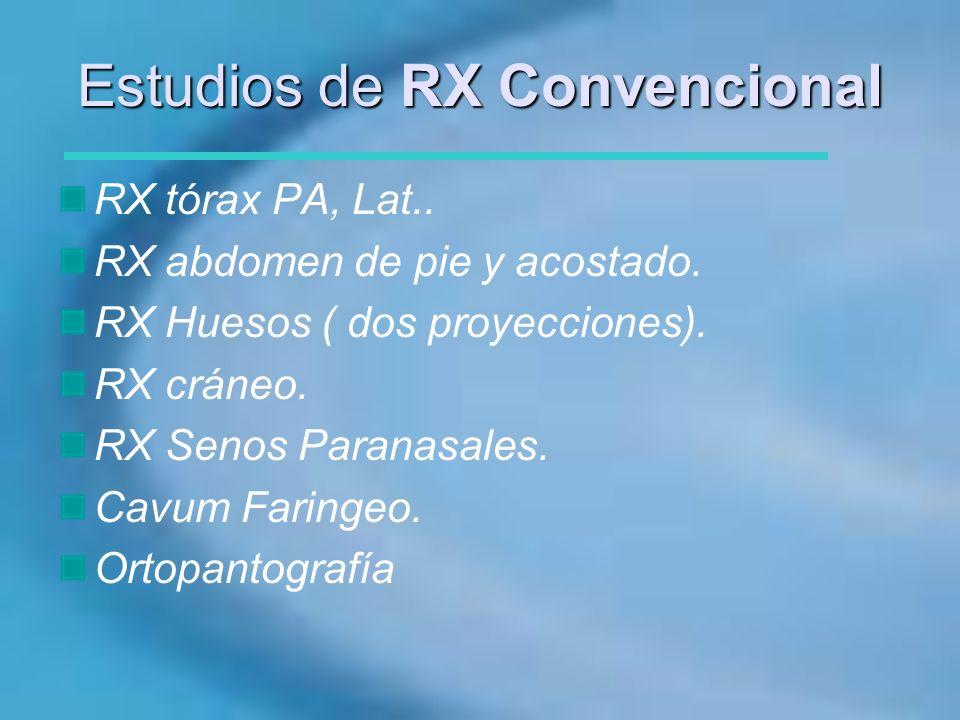 Estudios de RX Convencional