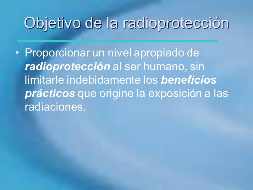 Objetivo de la radioprotección