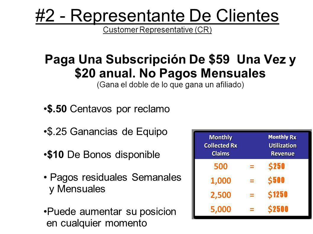 #2 - Representante De Clientes Customer Representative (CR)