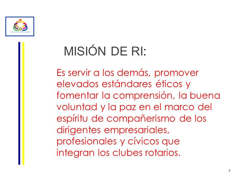 MISIÓN DE RI: