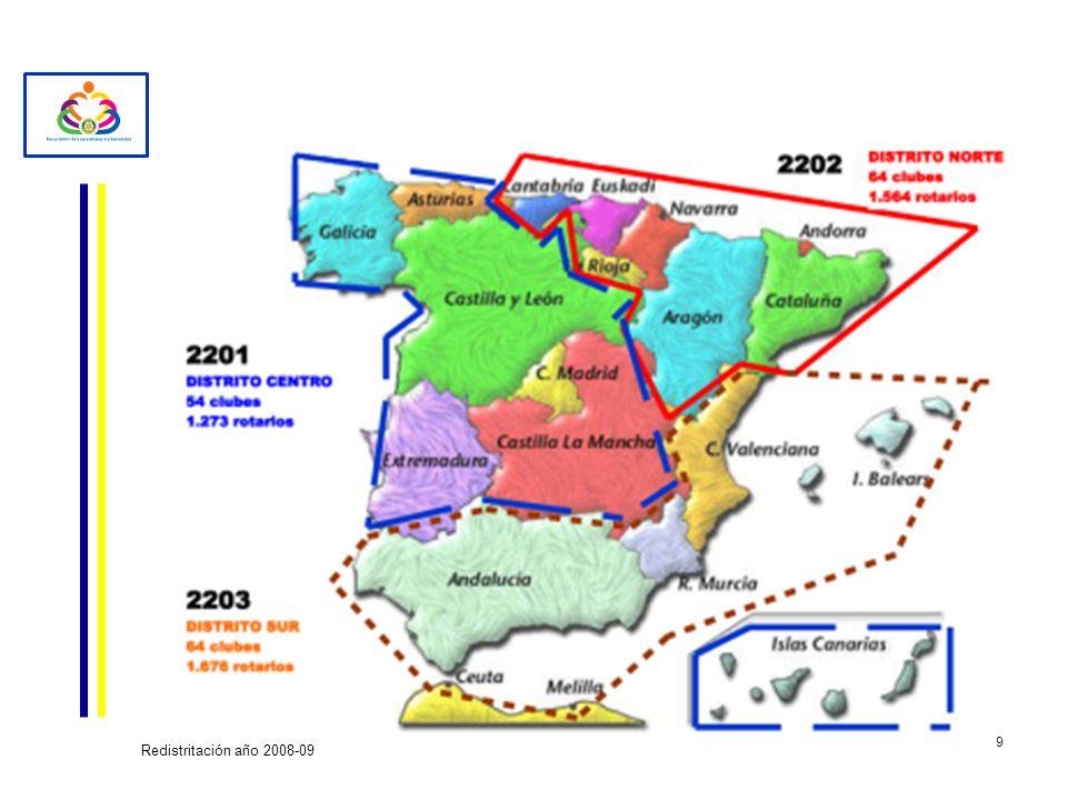 Redistritación año 2008-09