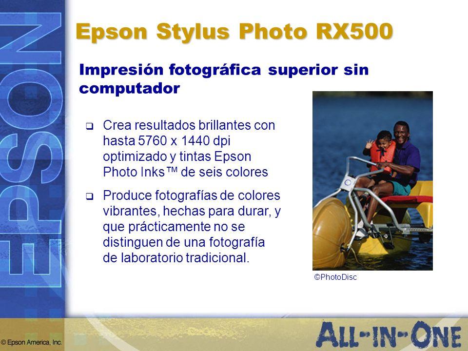 Epson Stylus Photo RX500 Impresión fotográfica superior sin computador