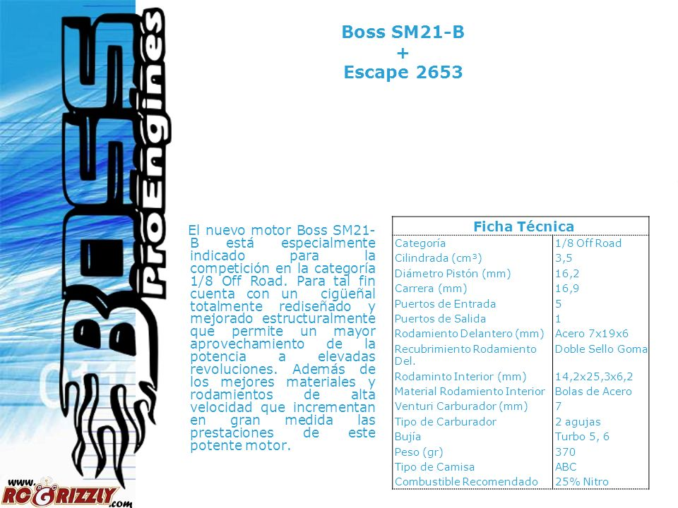 Boss SM21-B + Escape 2653 Ficha Técnica