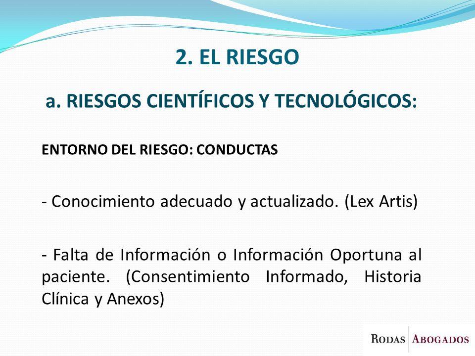 a. RIESGOS CIENTÍFICOS Y TECNOLÓGICOS: