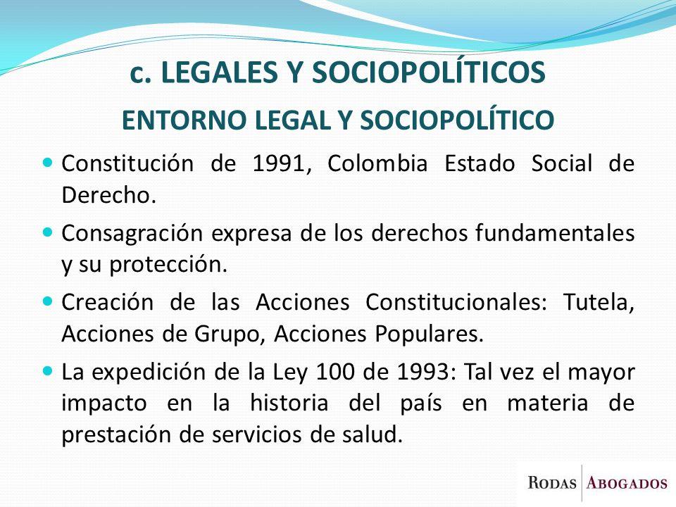 ENTORNO LEGAL Y SOCIOPOLÍTICO
