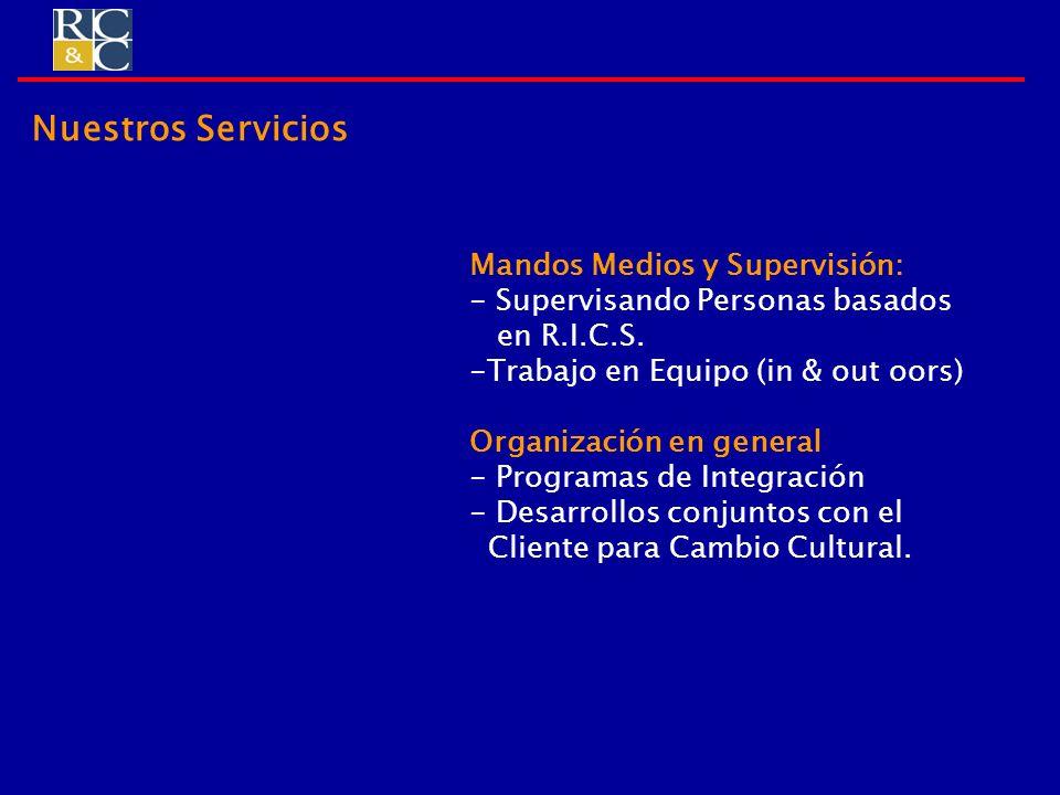 Nuestros Servicios Mandos Medios y Supervisión: