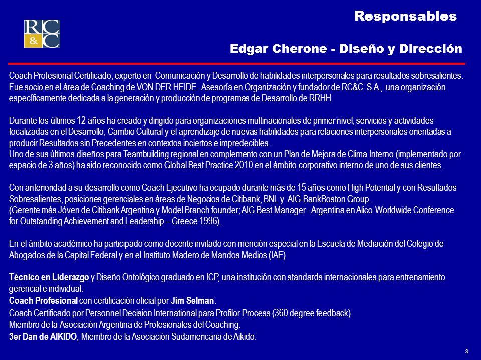 Responsables Edgar Cherone - Diseño y Dirección