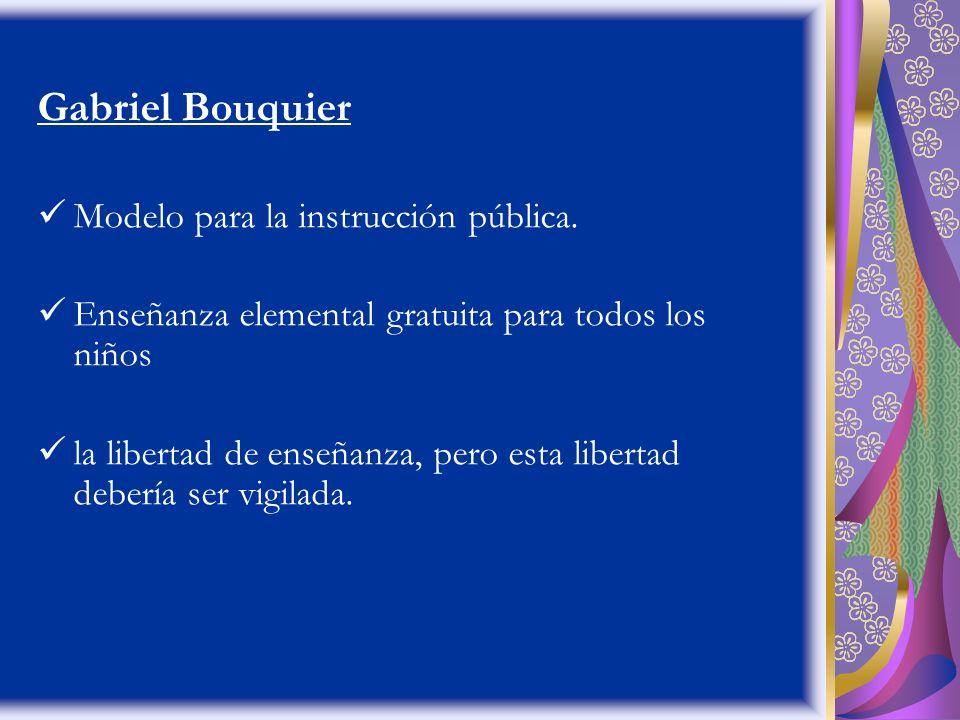 Gabriel Bouquier Modelo para la instrucción pública.