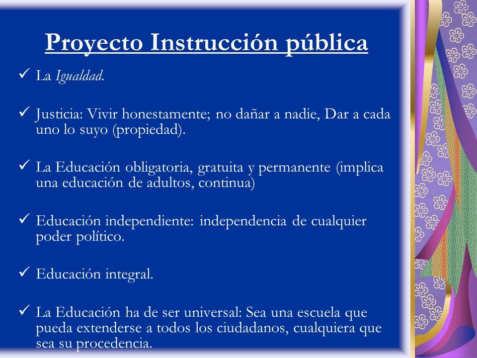 Proyecto Instrucción pública