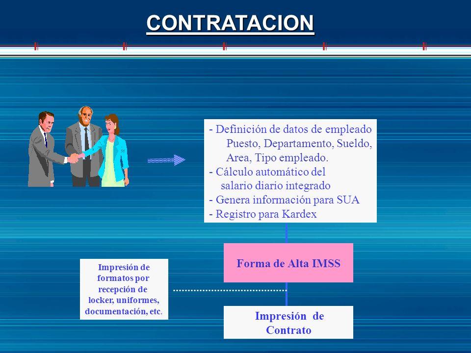 CONTRATACION - Definición de datos de empleado