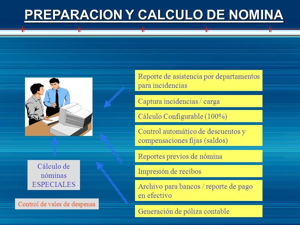 PREPARACION Y CALCULO DE NOMINA