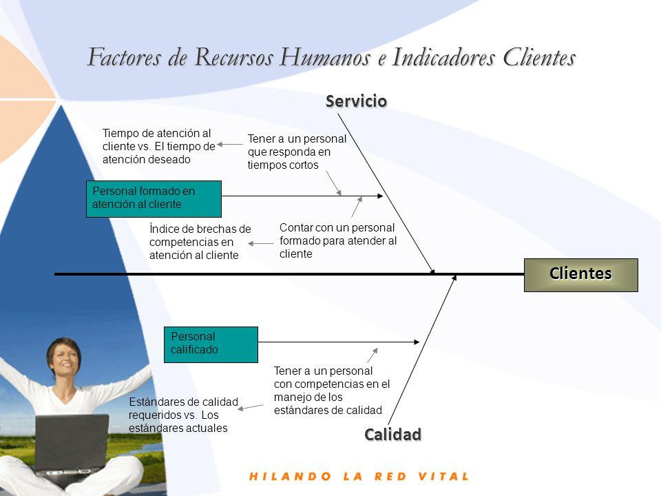 Factores de Recursos Humanos e Indicadores Clientes