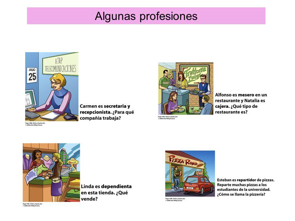 Algunas profesiones