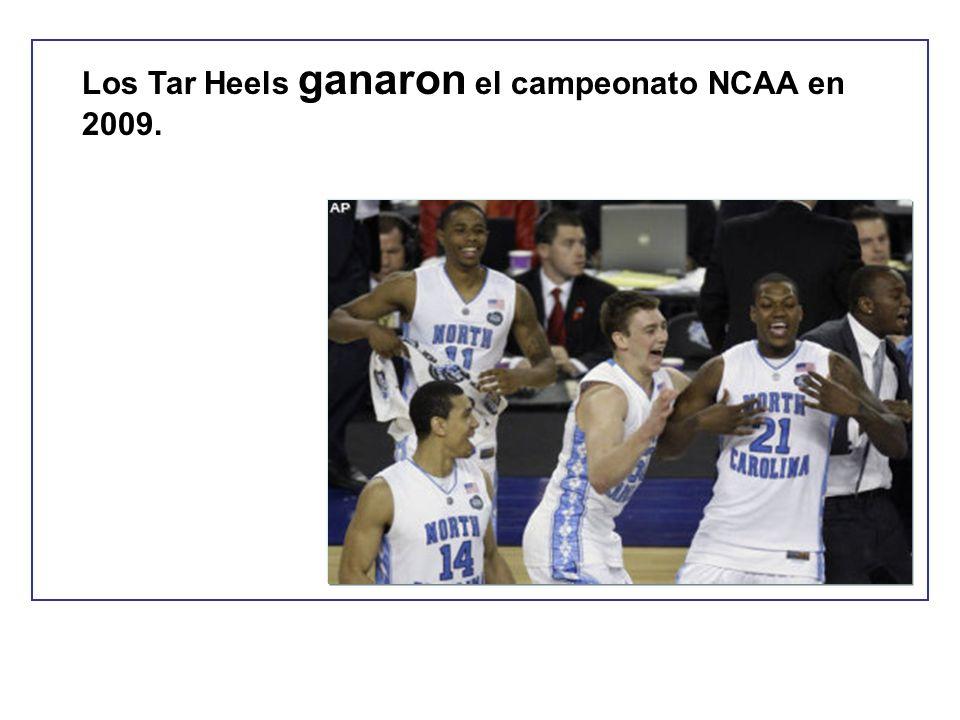 Los Tar Heels ganaron el campeonato NCAA en 2009.