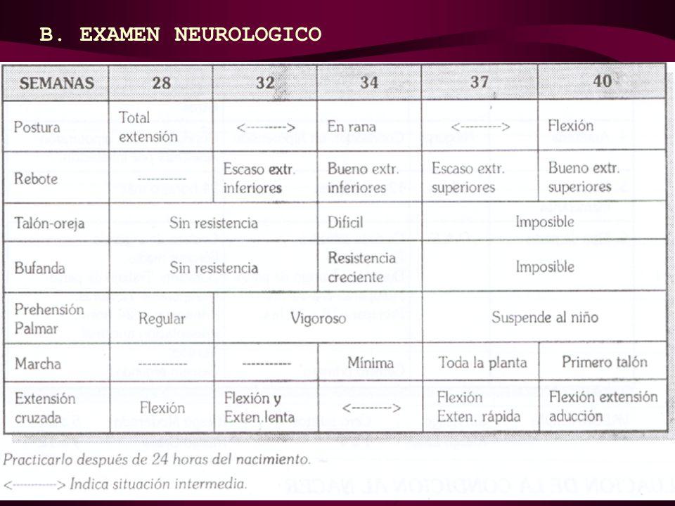 B. EXAMEN NEUROLOGICO