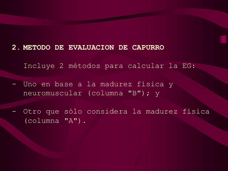2. METODO DE EVALUACION DE CAPURRO