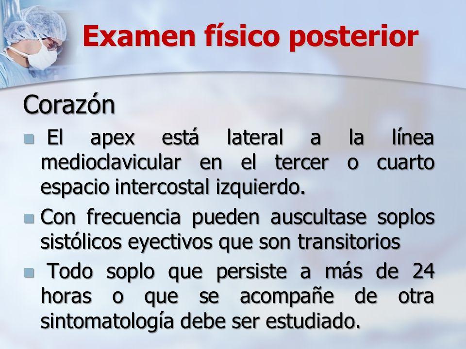Examen físico posterior