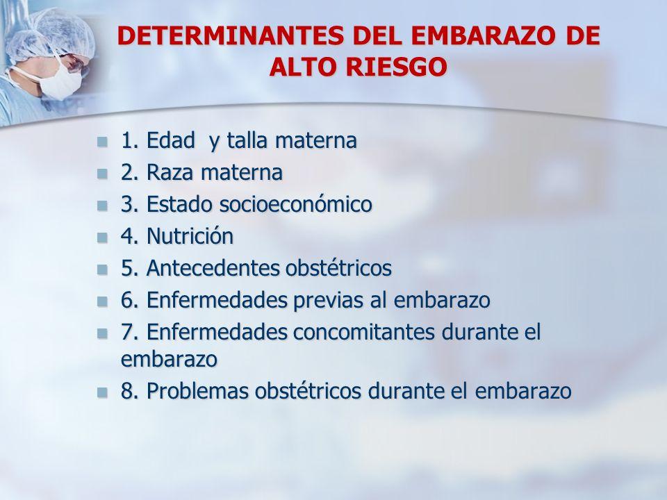 DETERMINANTES DEL EMBARAZO DE ALTO RIESGO