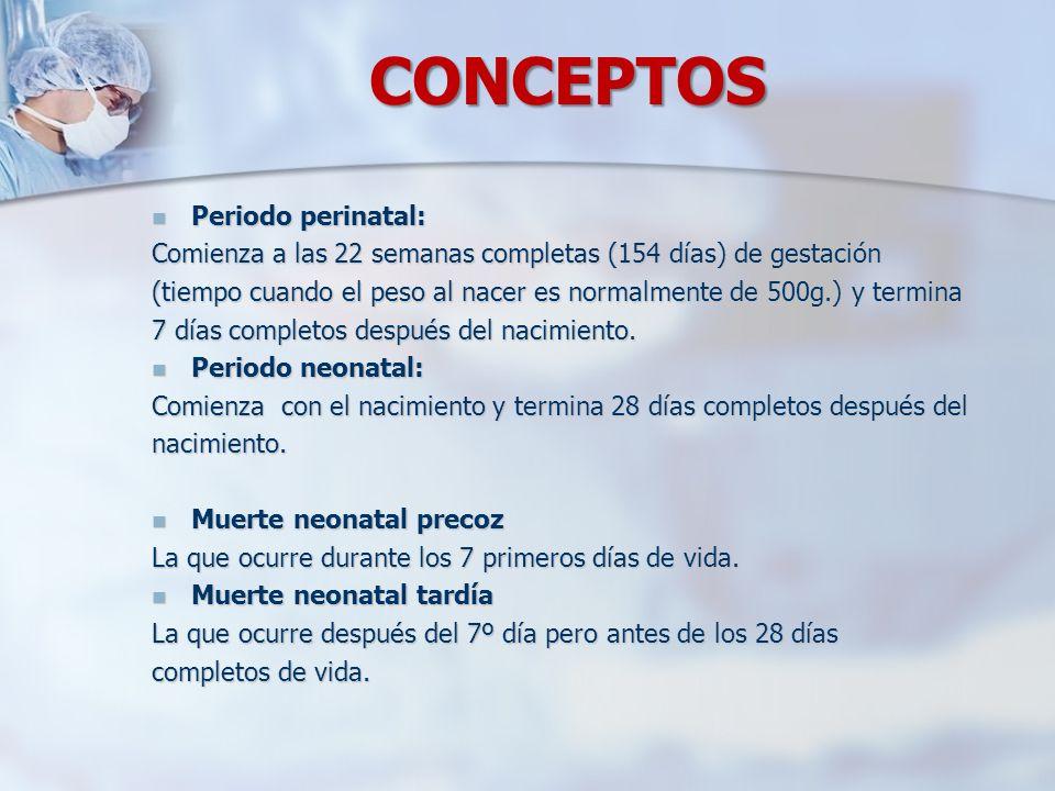 CONCEPTOS Periodo perinatal: